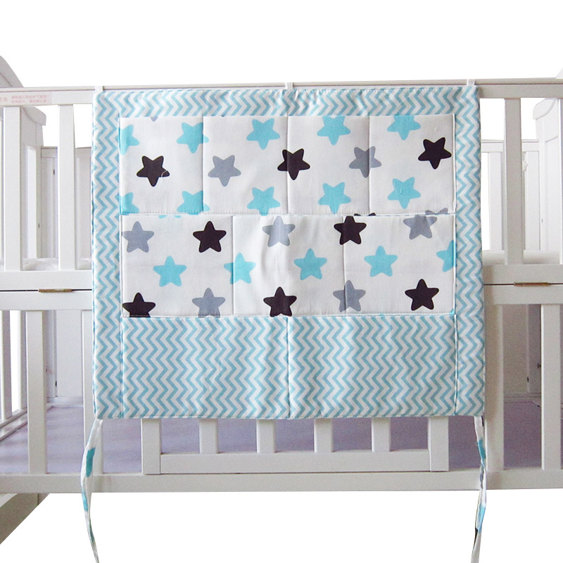 New Star Baby Cot Bed Nursery Hanging Storage Bag Crib Organizer Storage Bag 60*50cm Toy Diaper Pocket for Crib Bedding Set цена 2017