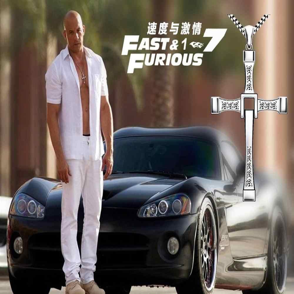 2017 biżuteria Collares Chock szybki i wściekły 6 7 Hard Gas aktor Dominic Toretto/krzyż naszyjnik wisiorek, prezent dla twojego chłopaka