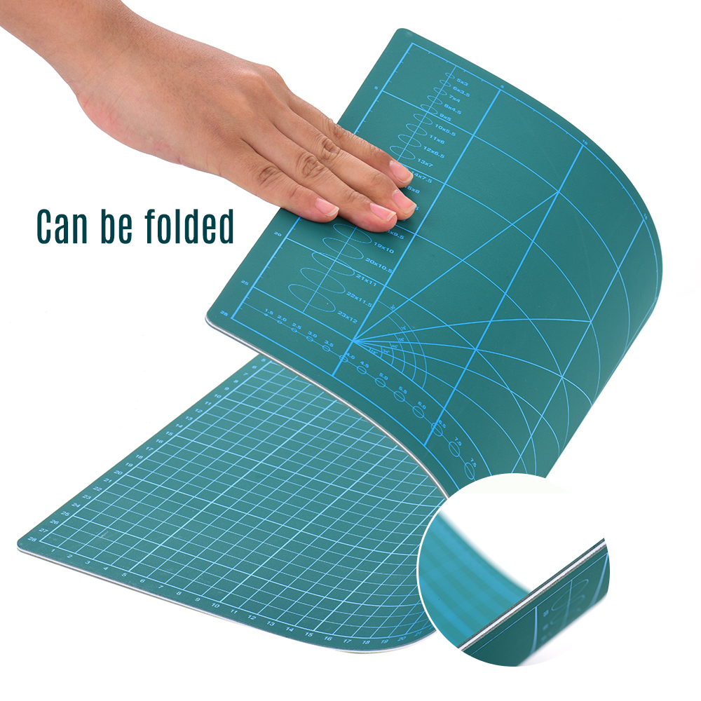 Double-Sided A4/A3 Cut Mat Easy To Clean Self Healing Rotary Cutting Mat Non-Slip PVC For Hobby Fabric Cutter Craft Knife Set