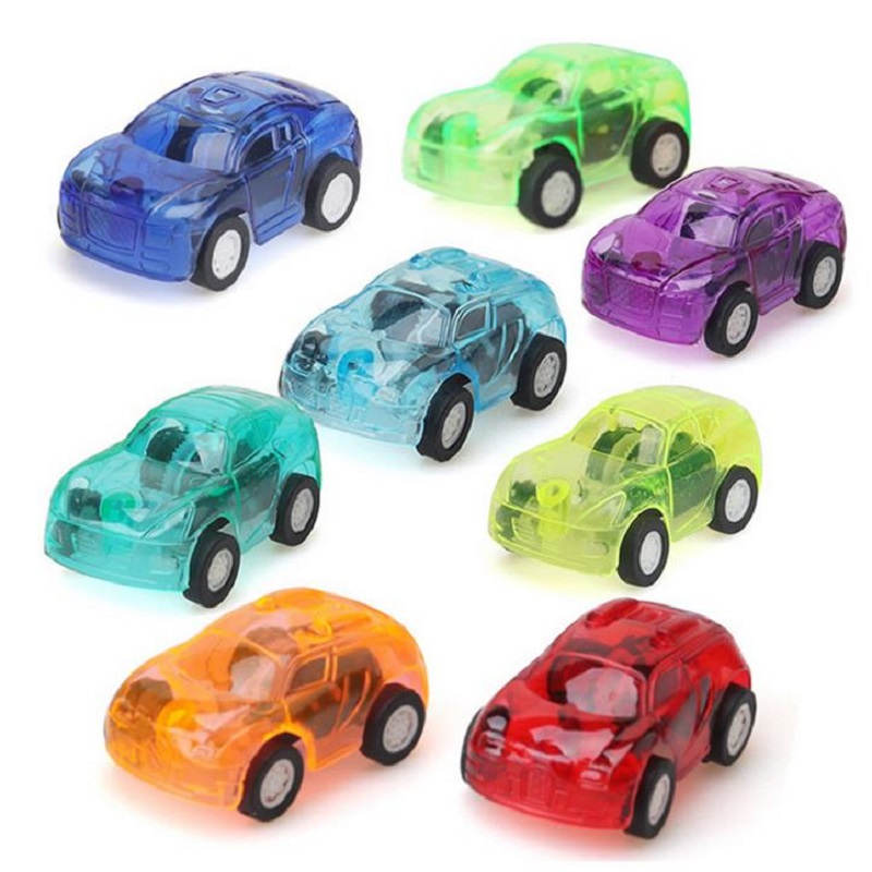 10Pcs/lot SQUINKIES Cars Toys Transparent Candy Color