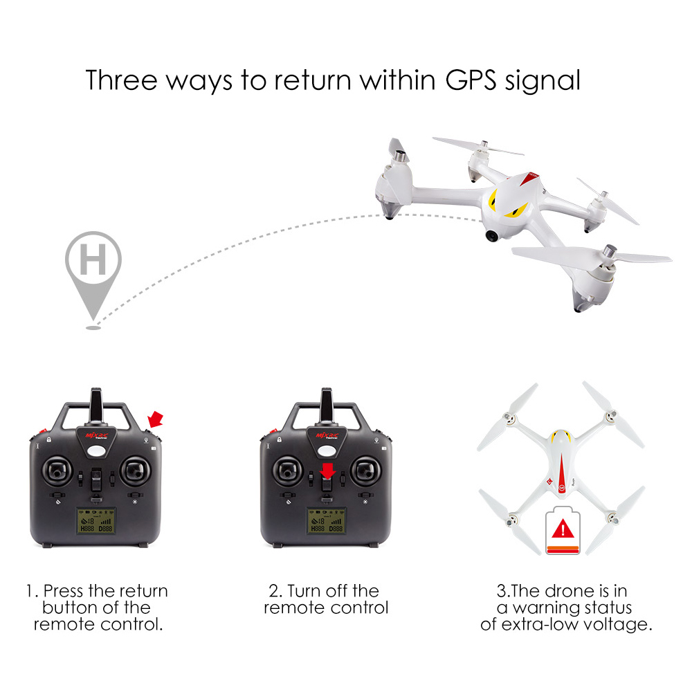 MJX Bugs 2C GPS RC Drone with Camera 1080P HD 2.4G 4CH 6-Axis Gyro Brushless Quadcopter Selfie Drone Quad Height Hold (15)