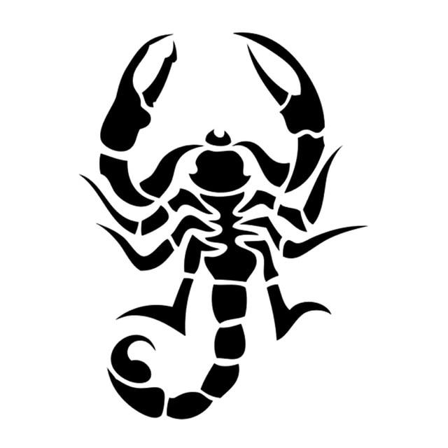 10 4cm13 9cm Tribal Tattoo Scorpion Animal Car Accessories Stickers