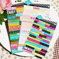 English Wishing Word Paper Stickers Set Die Cut For DIY Scrapbooking Bullet Journal Sticker Kits TN Photo Album Card Making S113