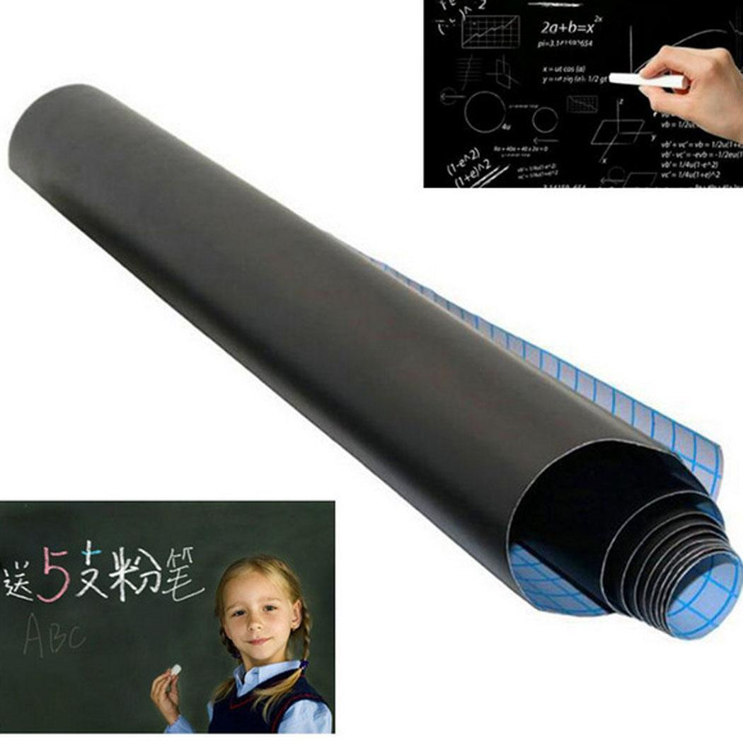 PVC Black Adhesive Chalkboard Stickers Removable Square Graffiti Wall Writing Board Above 3 Years Casual