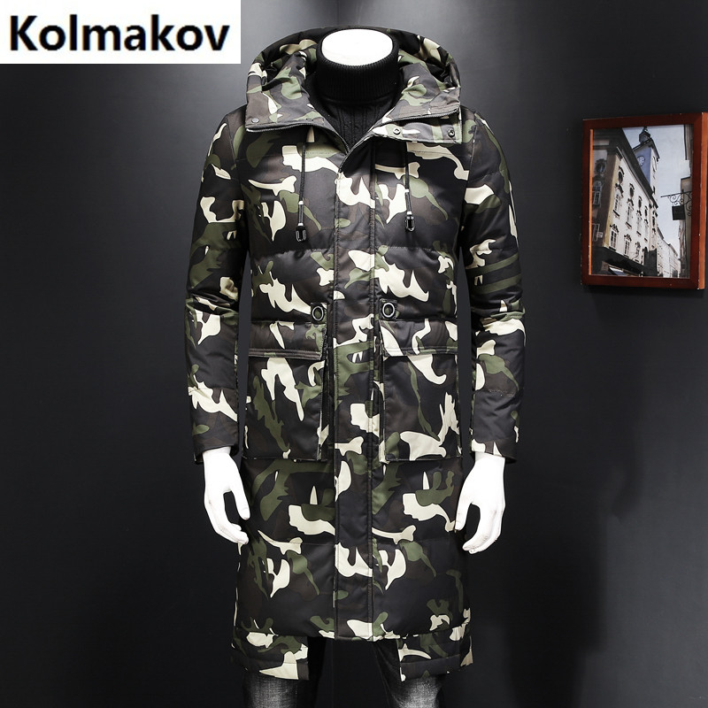 2017 Mens high quality down jackets Men 90% white duck down jackets Camouflage classic Hooded winter jackets mens coats
