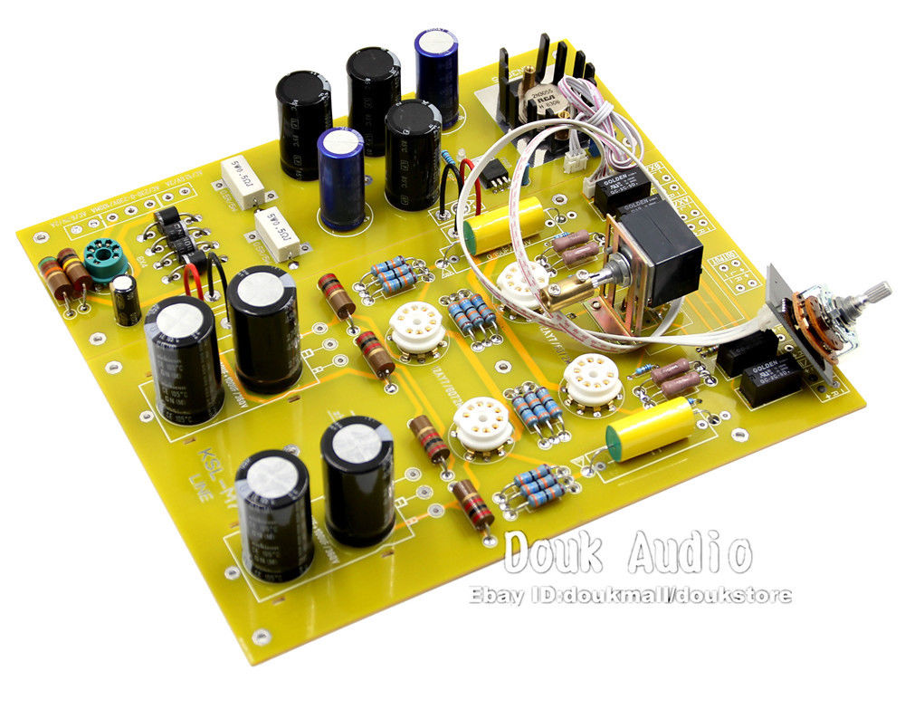 Douk Audio Vacuum Tube Pre-Amplifier HiFi Stereo Preamp Assembled Board KSL-M7