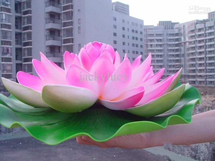 40cm decoratiuni elegante de nunta flori artificiale de lotus pentru - Produse pentru sărbători și petreceri