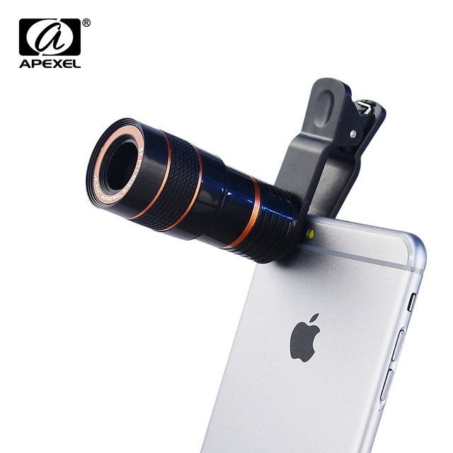Apexel 8x Zoom Mobile Phone Telescope Clip Lens For Iphone 5 5s 6 6