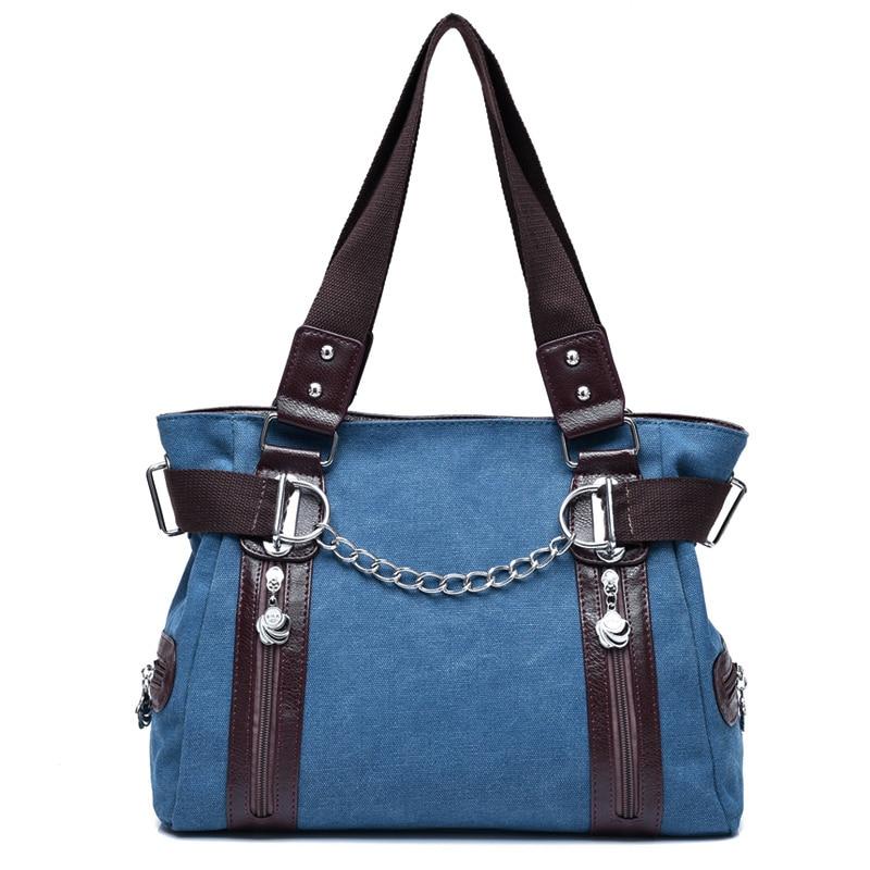 패션 여성 Crossbody 가방 빈티지 캐주얼 여성 핸드백 - 핸드백
