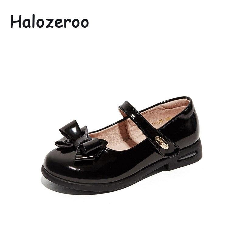 Новая весенняя обувь с бантом для маленьких девочек, детская красная школьная обувь, детская брендовая обувь, обувь из натуральной кожи, мод