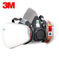 3M 6200 6009 Reusable Half Face Mask Respirator Mask Mercury Organic Vapor Chlorine Acid Gas Cartridge