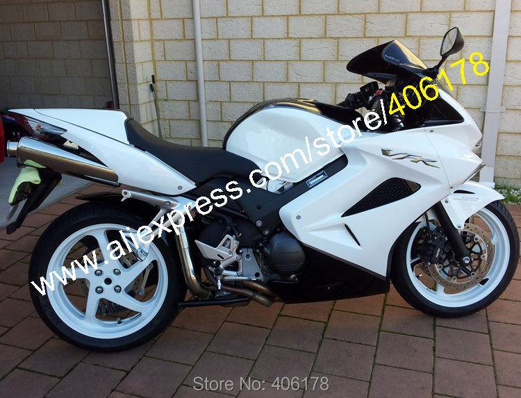 Hot Sales,White Black For Honda VFR800 Fairing 06 07 08 2002-2012 VFR 800 Sportbike Motorcycle Fairing Kit (Injection molding)