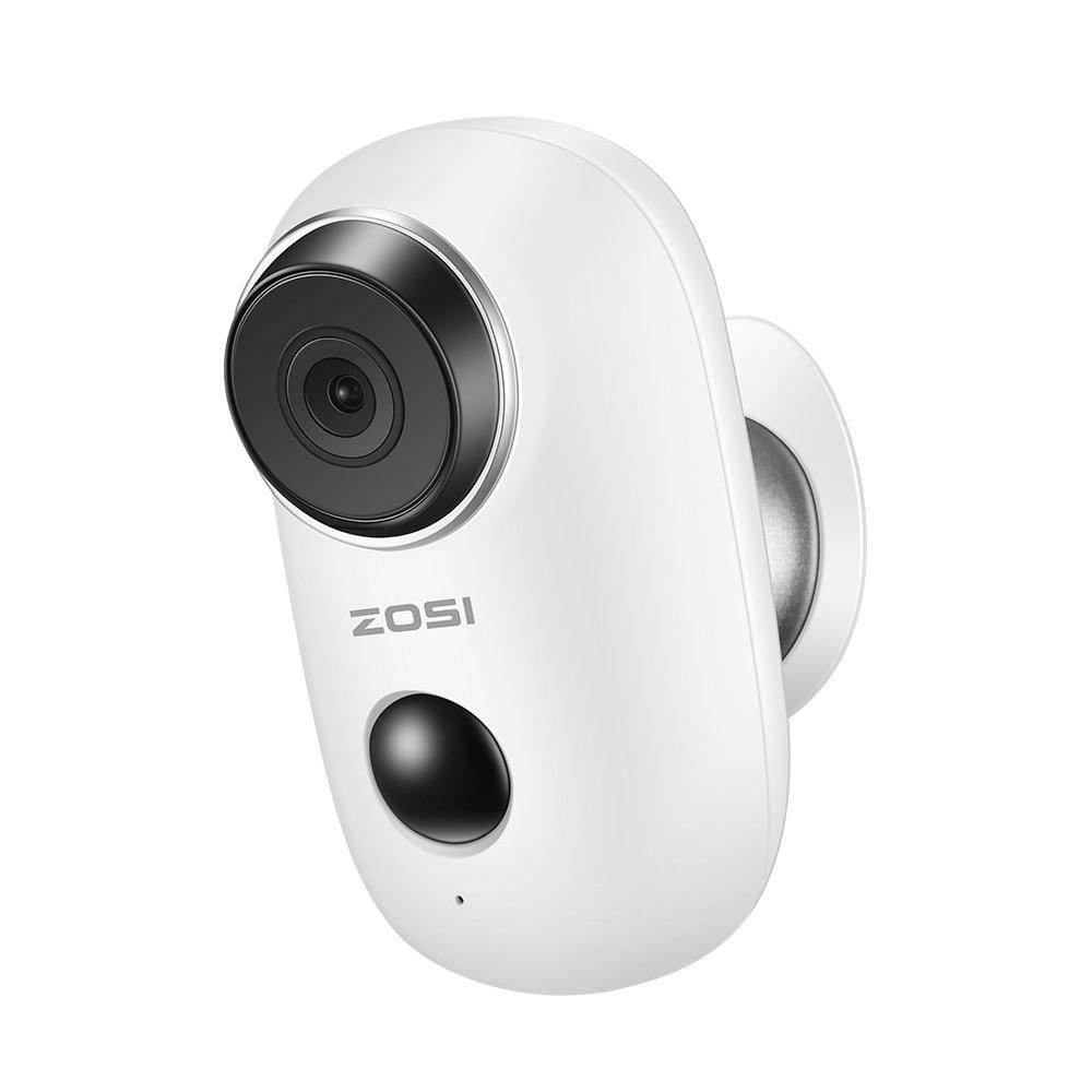ZOSI 100% batterie sans fil caméra IP WiFi Rechargeable batterie alimentée 720 P Full HD extérieur intérieur sans fil caméra IP de sécurité