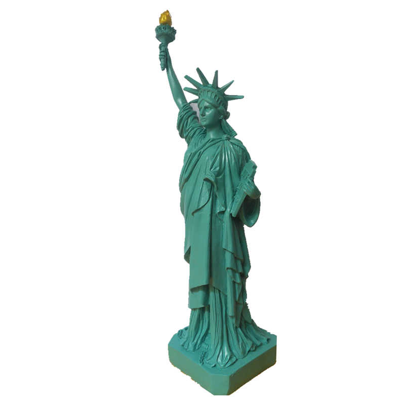 VILEAD 12'' Statue of Liberty Nature Sand Stone America Liberty Figurines Miniatures Statuettes Vintage Home Decor Souvenirs