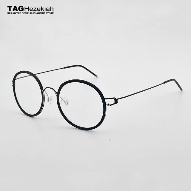 placeholder 2018 TAG marca de óculos quadro titanium sem Parafusos sem Solda  artesanal Óculos retro homens mulheres 5850bc6535