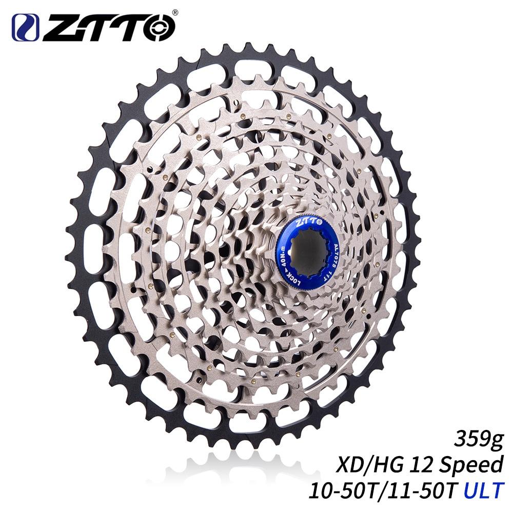 ZTTO MTB 12 speed Cassette ultralight Steel lightweight 12speed 11-50T Sprocket