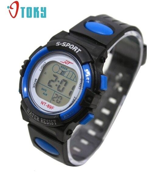 OTOKY Girl Boy LED Light Wrist Watch Alarm Date Digital Multifunction Sport #30