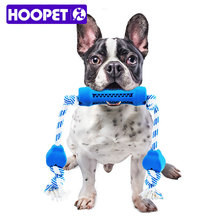 HOOPET New Design Funny Natural Rubber Non-Toxic Linen For Pets Biting Dog Resistant To Tooth Cleaning Chew Toy(China)