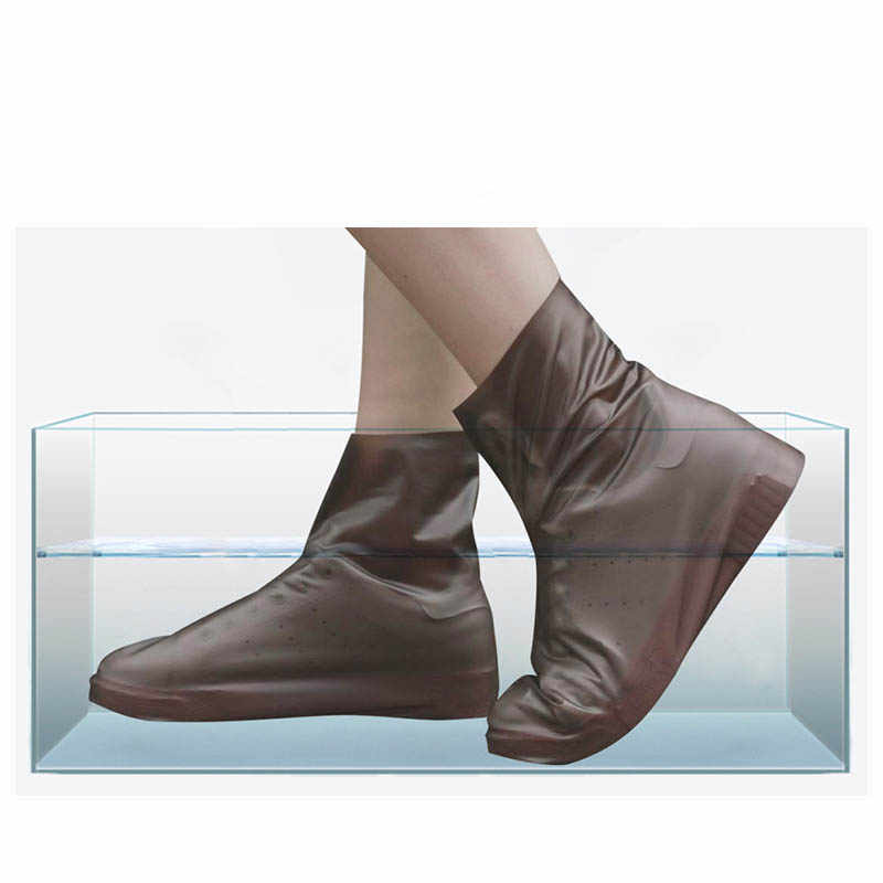 1 Pair Of Lightweight Shoe Covers PVC Waterproof Shoe Covers Reusable Silicone Non-slip Wearable Rain Boots Cover Unisex Selling