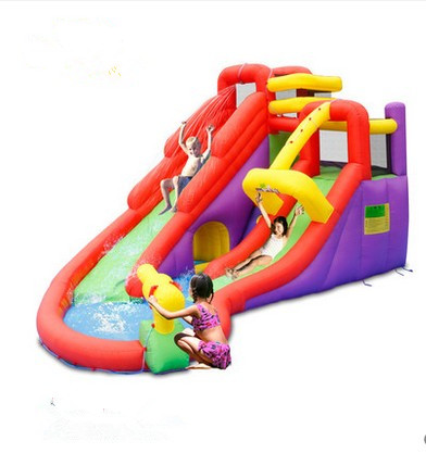 Free shipping Child inflatable trampoline naughty fort household summer water slide trampoline new arrival