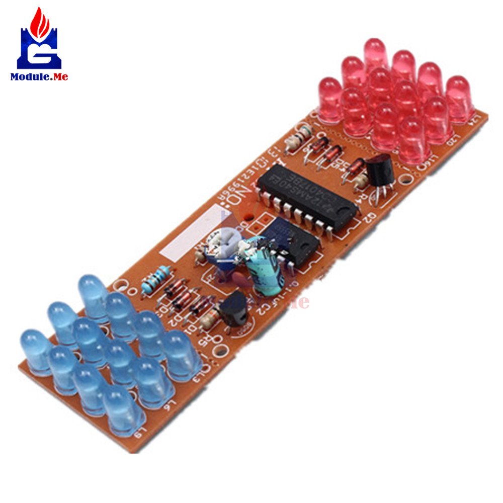 1Set NE555 + CD4017 Practice Learning Kits Red Blue Double Color Flashing Lights Kit Electronic Suite 9-12V DIY for Arduino 5