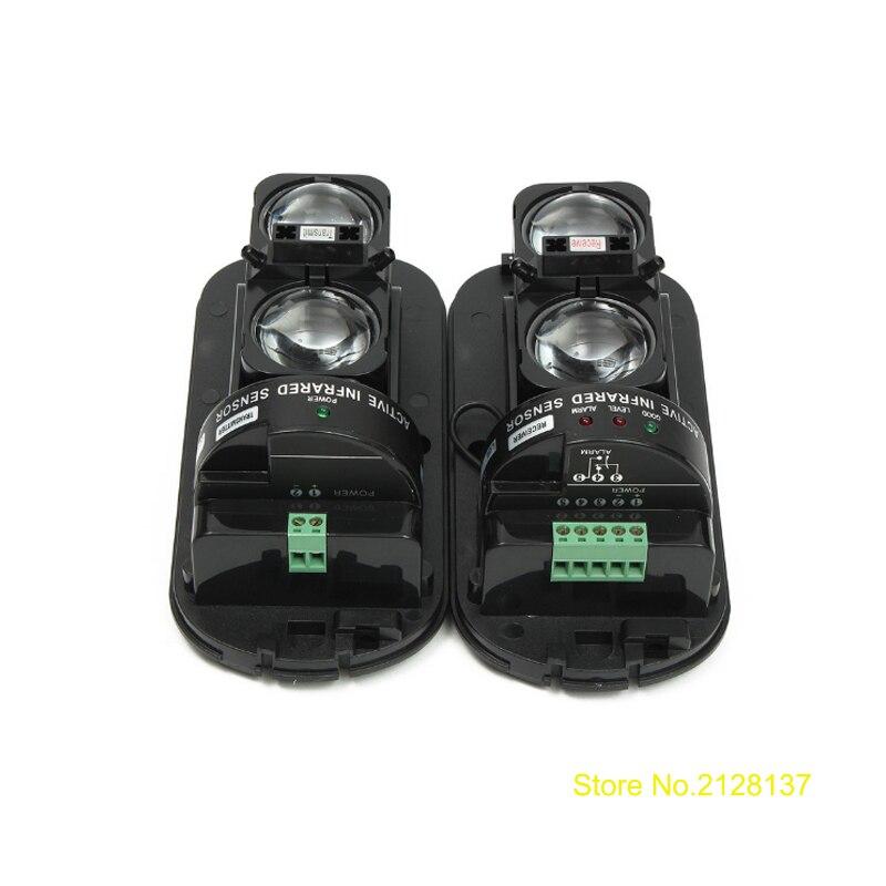 PIR beam detector  waterproof outdoor IR Sensor Dual Beam infrared barrier Detector for home alarm system  home security outdoor dual ir elements sensor dc 12v