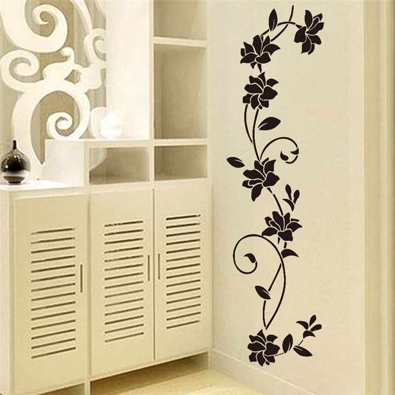 Flower Vine Decorative Wall Stickers Refrigerator Vinyl Window Cupboard Home Decorations Diy Living Room Decals Art Mural Poster