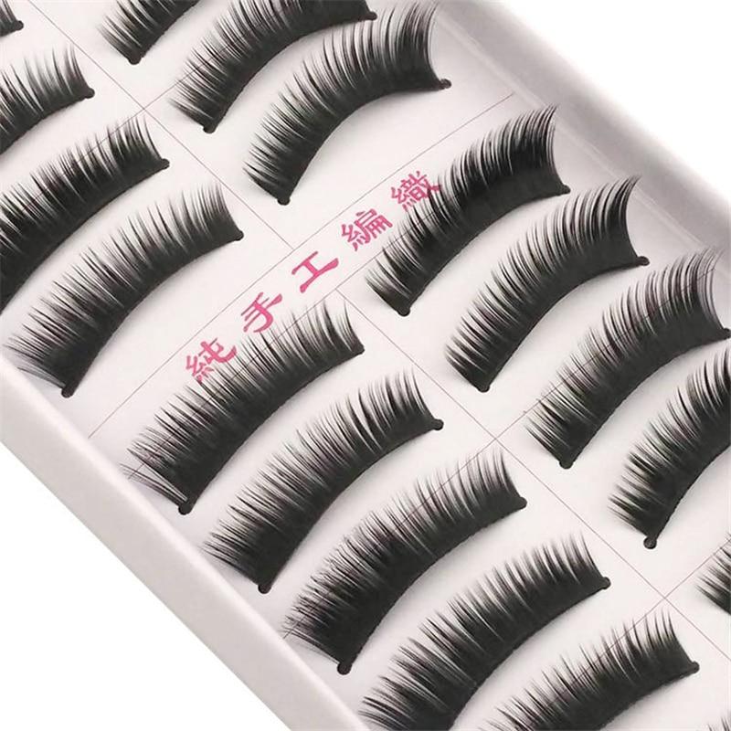 Follome 10 Pairs Thick False Eyelashes Long Lasting Soft Cruelty Nature Long Volume Cross Makeup Fake Eye Lashes Accessories