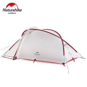 Image 5 - Naturehike Tent Hiby Series Camping Tent 3 4 Persons Outdoor 20D Silicone Fabric Double layer 4 Season Ultralight Family Tent