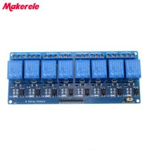цена на Free Shipping 8 channel 8-channel relay control panel PLC relay 5V module for hot sale in stock.8 road 5V Relay Module