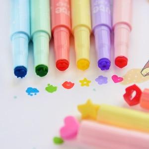 Image 4 - 36 Teile/los Nizza Highlighter Farbe Stempel Marker Stifte für Journal Notebook DIY Werkzeuge Zakka Schreibwaren Büro Schule Liefert A6285