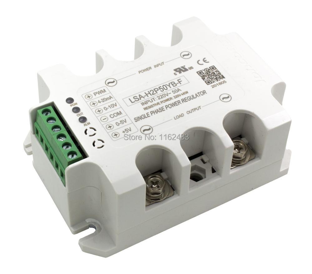 LSA-H2P50YB-F single phase AC 50A 220V closed loop negative feedback solid state voltage regulator / power regulator moduleLSA-H2P50YB-F single phase AC 50A 220V closed loop negative feedback solid state voltage regulator / power regulator module
