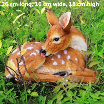 Beautiful sika deer crafts, garden animal ornaments, home living room tabletop decorations, office furnishings 1