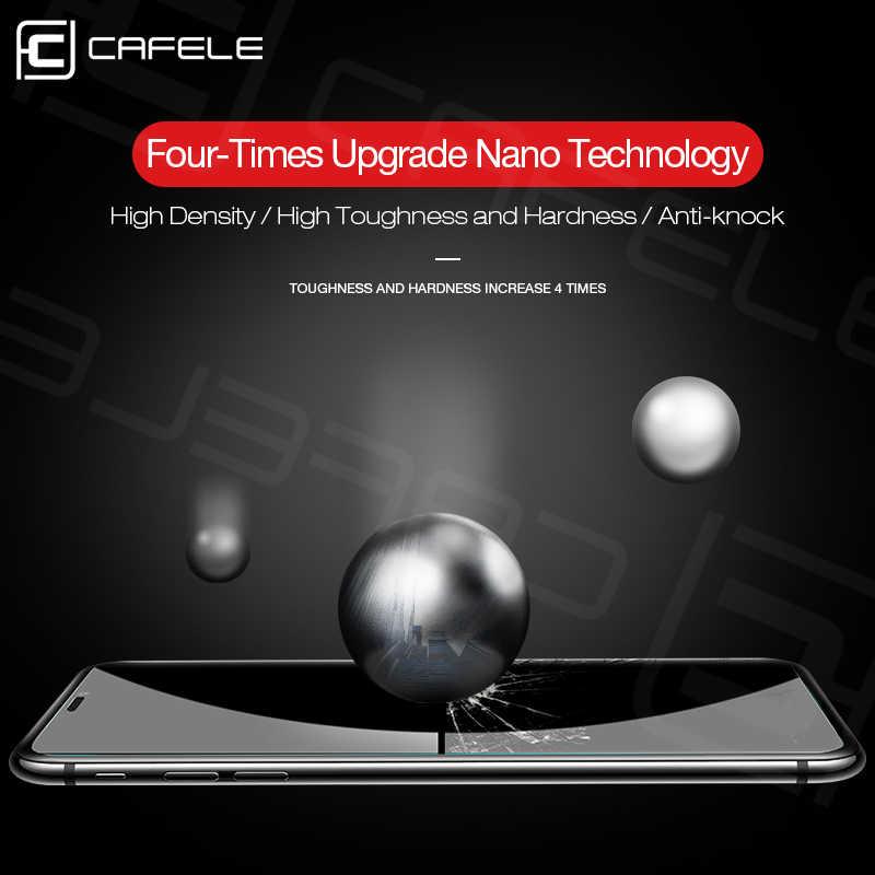 """Cafele 強化ガラススクリーンプロテクター iPhone XR 6.1 """"/XS 5.8""""/XS プラス 6.5 """"9 9h 硬度 HD クリア"""