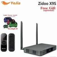 Оригинальный ZIDOO X9s ТВ коробка Android 6,0 + OpenWRT (NAS) Realtek RTD1295 2 г/г 16 г Декодер каналов кабельного телевидения 802.11ac Media Player