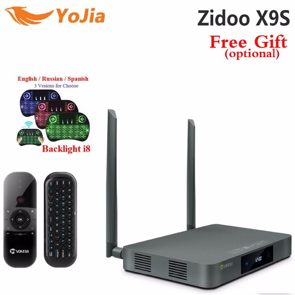 цена на Original ZIDOO X9s TV BOX Android 6.0 + OpenWRT(NAS) Realtek RTD1295 2G/16G Set top tv box 802.11ac Media Player