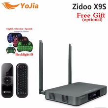 Original ZIDOO X9s TV BOX Android 6.0 + OpenWRT (NAS) Realtek RTD1295 2G/16G Set top tv box Reproductor Multimedia 802.11ac