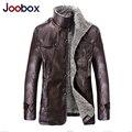 Joobox 2017 de alta calidad de la pu hombres chaqueta de cuero punky nuevas chaquetas de cuero revestimiento de lana de los hombres abrigo de invierno ropa de la marca (PY034)