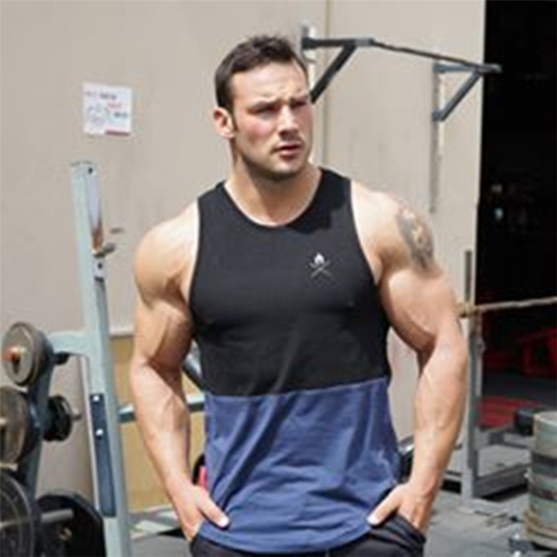 2019 clothing Fitness   tank     top   men Cotton Sleeveless shirt bodybuilding vest Fitness new brand tracksuits muscle clothes