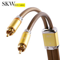 SKW High end 2rca to 2rca Male to Male audio cable rca coaxial cable Stereo digital 2rca 2rca cable for Home Theater Amplifier