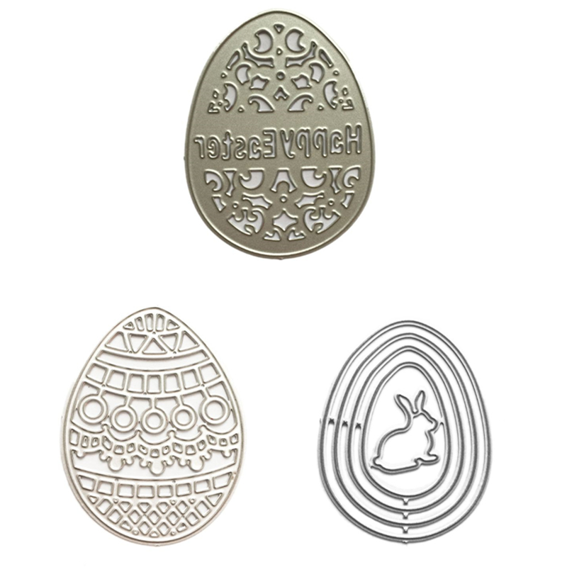 Easter Egg Metal Cutting Dies Or Stamps Scrapbooking Photo Album Card Making