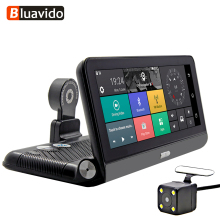 Bluavido 8 Dash Cam Touch 4G Android DVR ADAS GPS Navigation FHD 1080P WIFI auto video registrar with rear view camera monitor