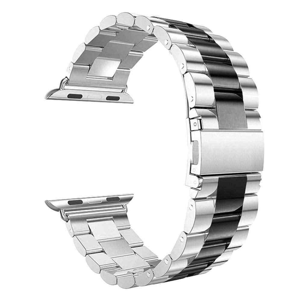 Per Apple Watch Band 44 Millimetri 40 Millimetri 38 Millimetri 42 Millimetri Del Metallo di Modo Braccialetto di Sport Cinturino in Acciaio Inox per iwatch Series5 4 3 2 1 Cinturino