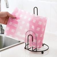 New Iron Kitchen Tissue Holder Bathroom Toilet Roll Paper Holder Towel Rack Kitchen Cabinet Desktop Stand