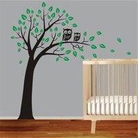 J27 Large Owl Tree Wall Art Sticker Removable Decor Kids Boy Nursery Vinyl Decal DIY Children