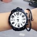 Casual Quartz Silicone Wrist watch Men Dress Watches 2016 Newly Design Big Dail Brand Watch Relogio Feminino Sport Wristwatch