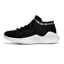 2019 High Top Sock Sneakers Men Shoes Breathable Lightweight Thick Bottom Shoes Man Casual Lace Up Soft Shoes Tenis Masculino