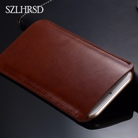 SZLHRSD Leather Mobile Phone Bags For Xiaomi Blackshark Cases Cover For OnePlus 6 Pouch Microfiber Stitch