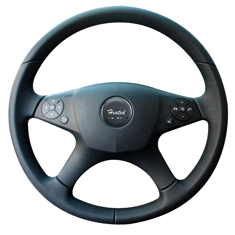 DIY wheel steering cover for <font><b>Mercedes</b></font> <font><b>Benz</b></font> W204 C-Class 2007-2010 C280 <font><b>C230</b></font> C180 C260 C200 C300 braid on the steering wheel image