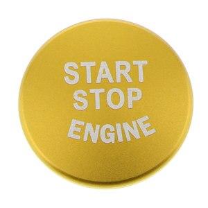 Image 5 - 1 Uds. Botón de arranque de motor de coche, accesorios de interruptor de parada de cubierta para BMW 1 2 3 4 Series F30 F20 F32 X1 F48 F45 Etc aluminio